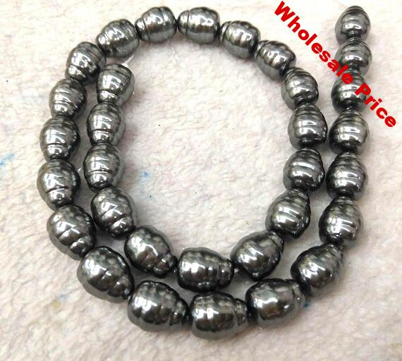 """Full strand 16"""" Black Pearl Jewelry white Drop Teardrop carved bead 8-20mm white Pearl beads jewelry for Make Earrings loose bea"""