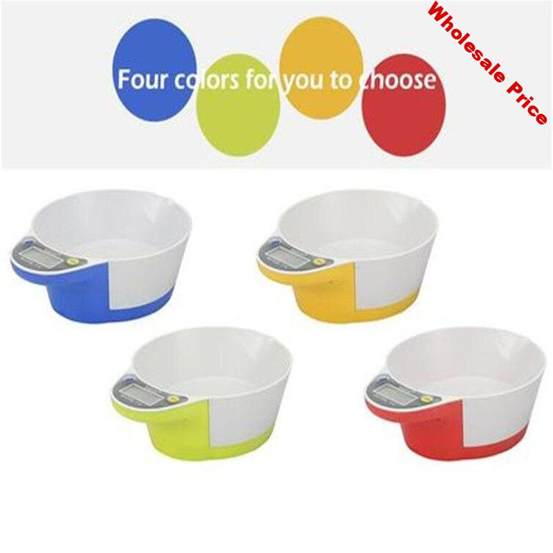 Pet feeding baking electronic kitchen scale Mini with bowl gram scale household integrated bowl scale