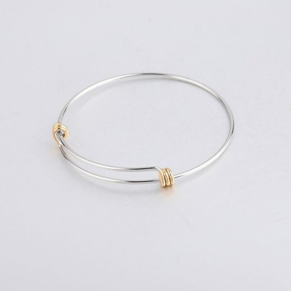 1.6mm Thick Stainless Steel Bangle Bracelet Cuff Bracelet Expandable Wrist Bangle Bracelet Wholesale 10pcs