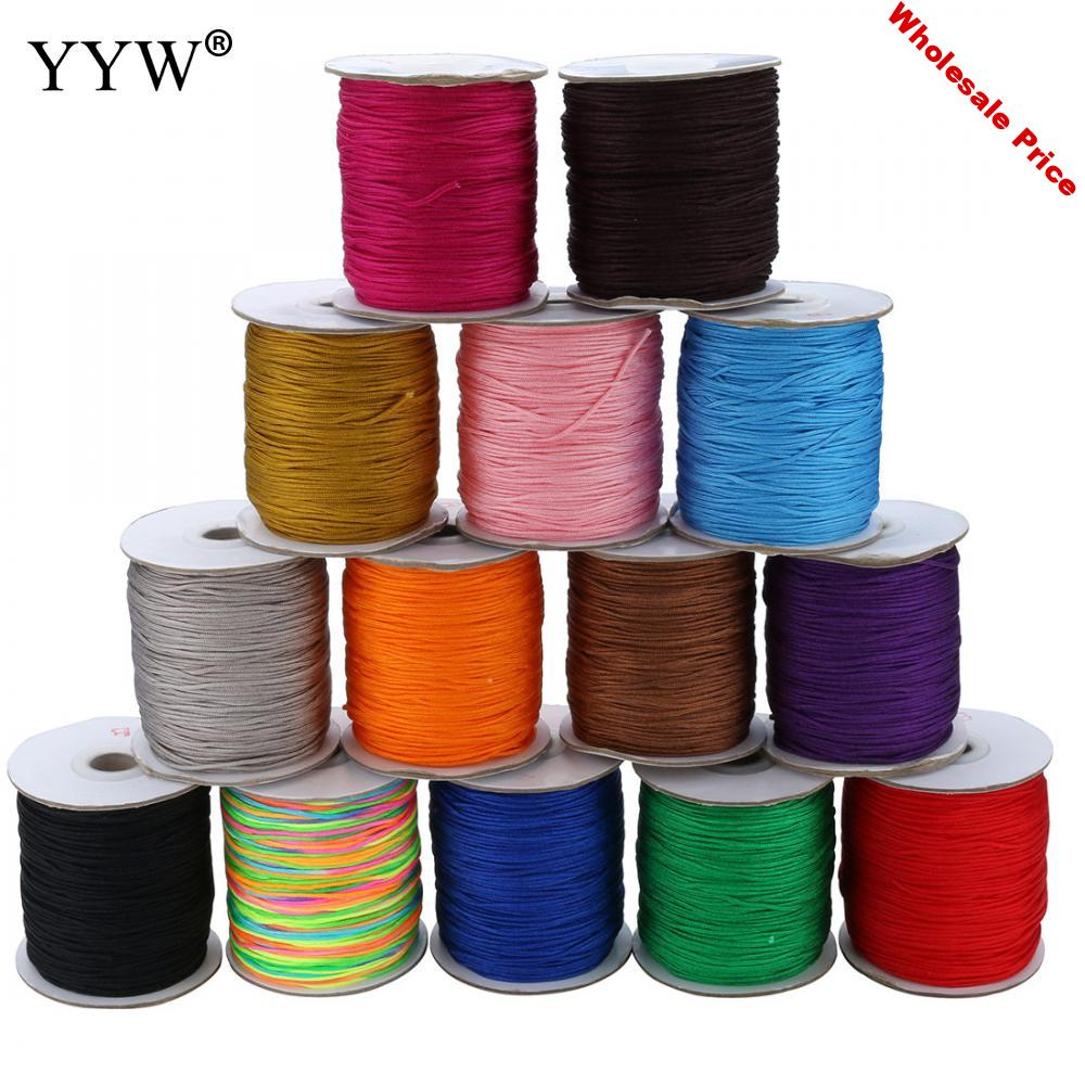 Nylon Cord 1.5mm 180yards/pcs Thread Chinese Knotting Silky Macrame Cord Beading Braided String Thread Cord DIY Jewelry Findings