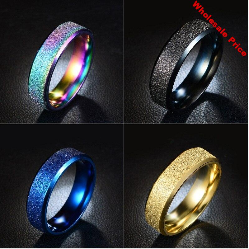 MixMax Fashion 50pcs Top Quality Men's Women's Stainless Steel Band Rings Wholesale Lot Jewelry