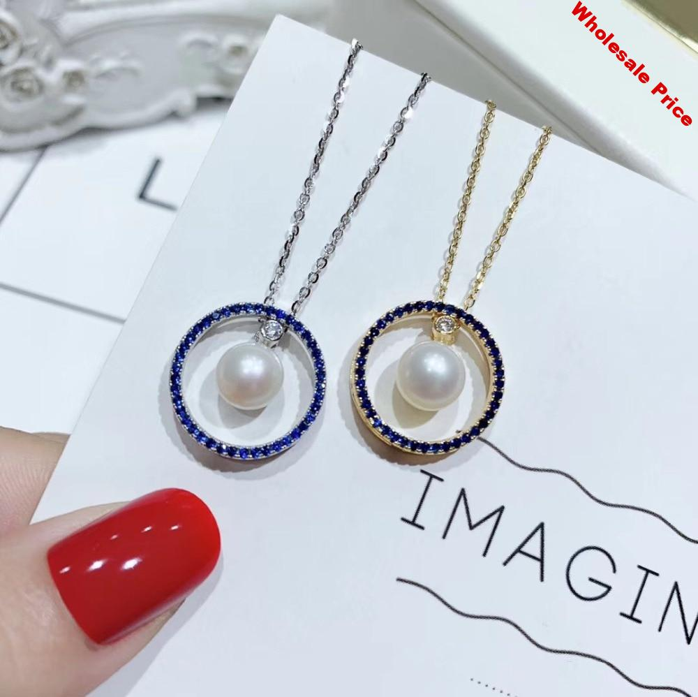 Nice Design 925 Sterling Silver Pearl Pendant Mounts Pendant Findings and Component Jewelry Parts Fittings Women Accessories