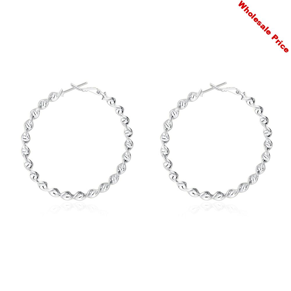 C893 Fashion  Korean Style Simple Crystal Stud Earrings For Women Wedding Jewerly Bridal Engagement Earrings Female Gifts