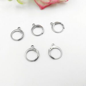 100PCS/lot  New Stainless Steel Ear Wires Hoop Earring Hooks For DIY earring Findings Components Making