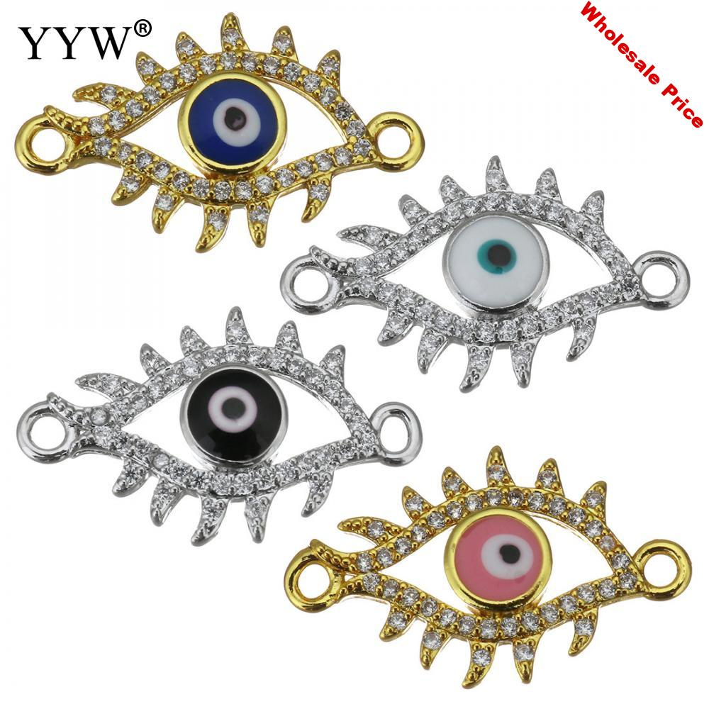 30pcs Hot Fashion Charms Pendants For Jewelry Making Luxurious Multicolor Color Crystal Evil Eye Pendants For Women Diy Gift