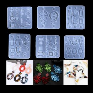 1 Set Crystal Epoxy Resin Mold Earring Pendent Casting Silicone Mould Handmade DIY Crafts Jewelry Making Tools