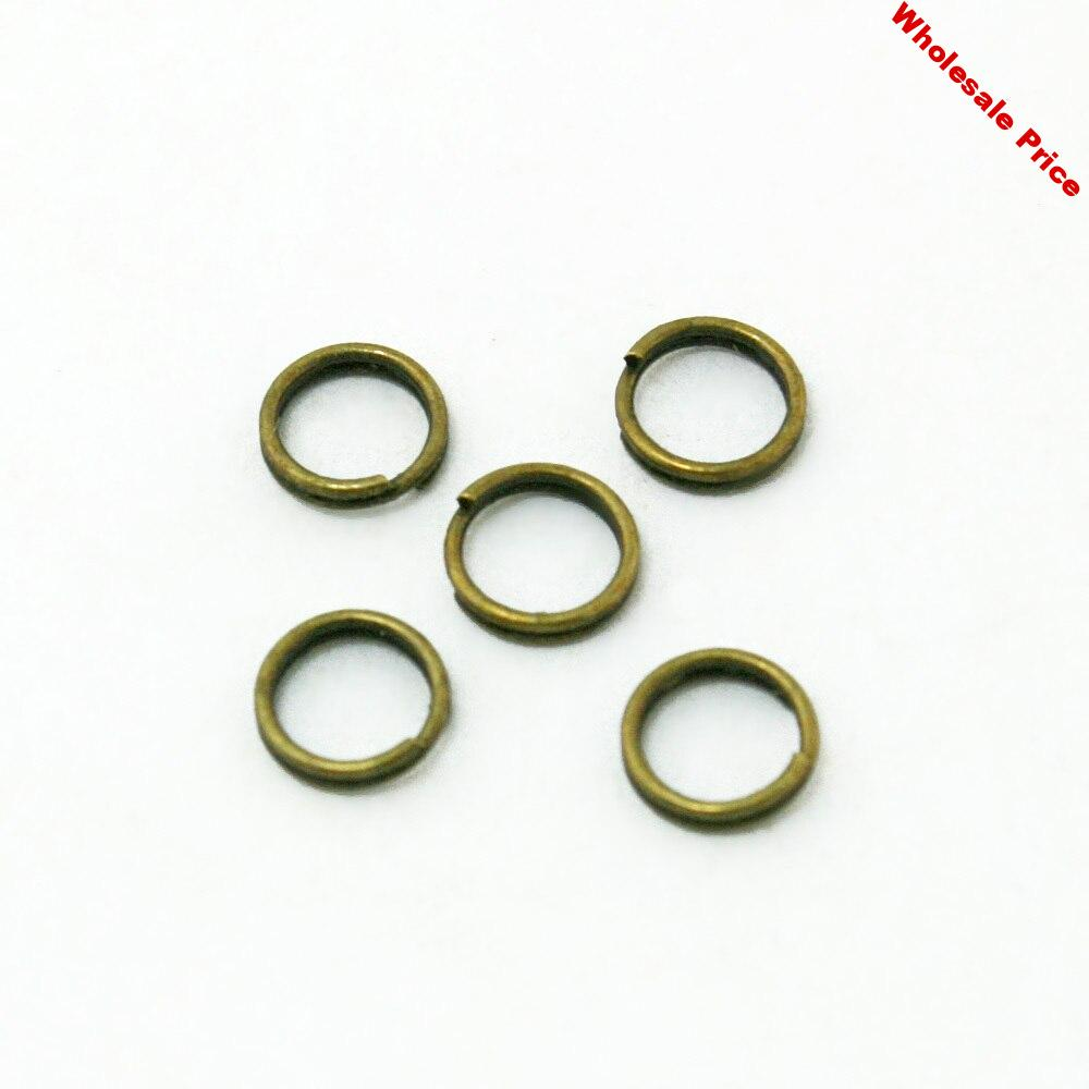 Approx 6600pcs/lot Metal Open Jump rings Antique Bronze Plated 6MM Double Loops Jump Rings