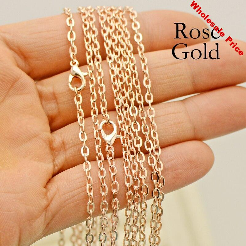 100 pcs - 30 Inch Rose Gold Necklace