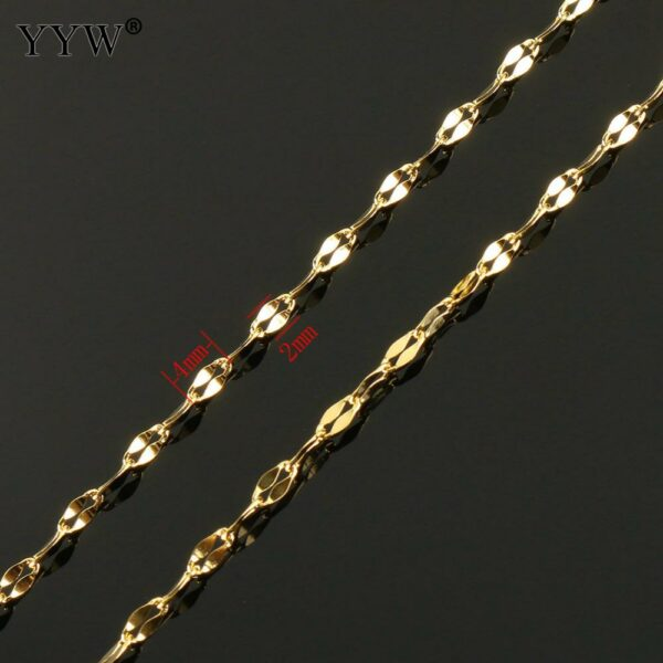 20m/Spool 4x2x0.50mm Stainless Steel Chain for Necklace DIY Fashion Distortion Chain Men Women Braided Jewelry Christmas Gifts