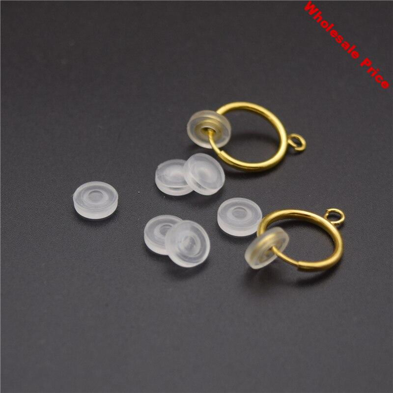 200pcs  Transparent Soft Silicone Anti-Pain Pad Ear Clip Anti-Pain Pad DIY Earring Finding