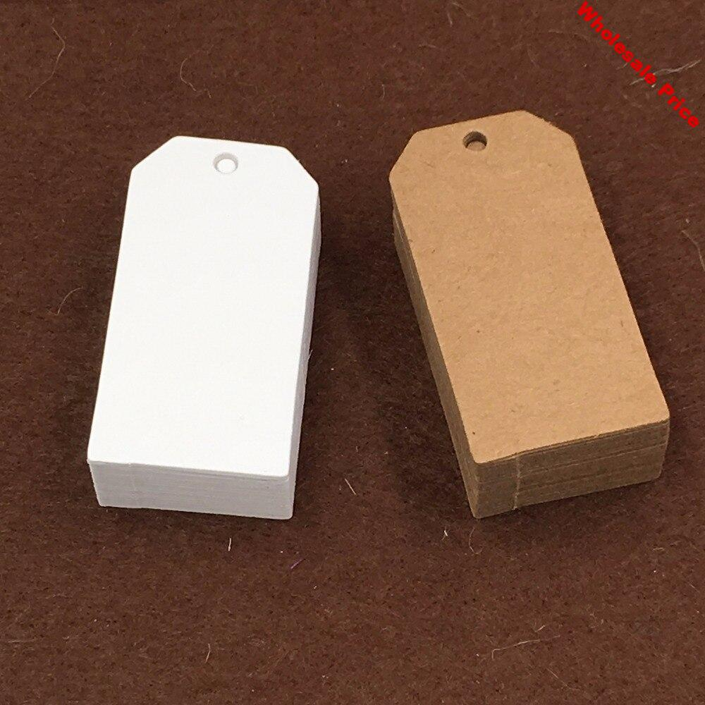 500pcs Kraft Gift Tags Blank Ganment tags Paper Price Tag DIY Packing Cards Hang Tag for Bags/shoes/clothes/jewelry/Gift boxes
