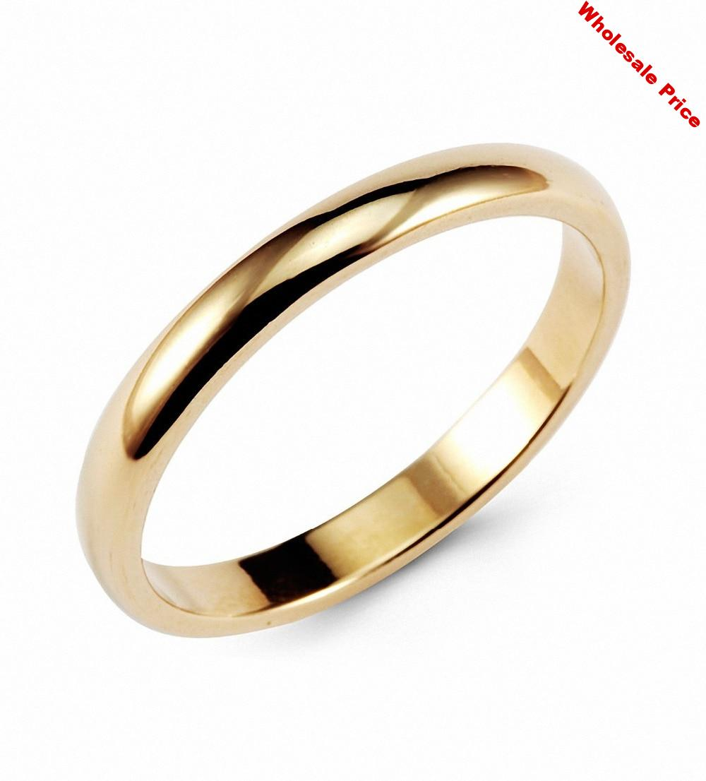 Vintage Gold color Classic Tungsten Ring 3mm Classic Wedding Rings Band Comfort Fit Newest Fashion Infinity Jewelry