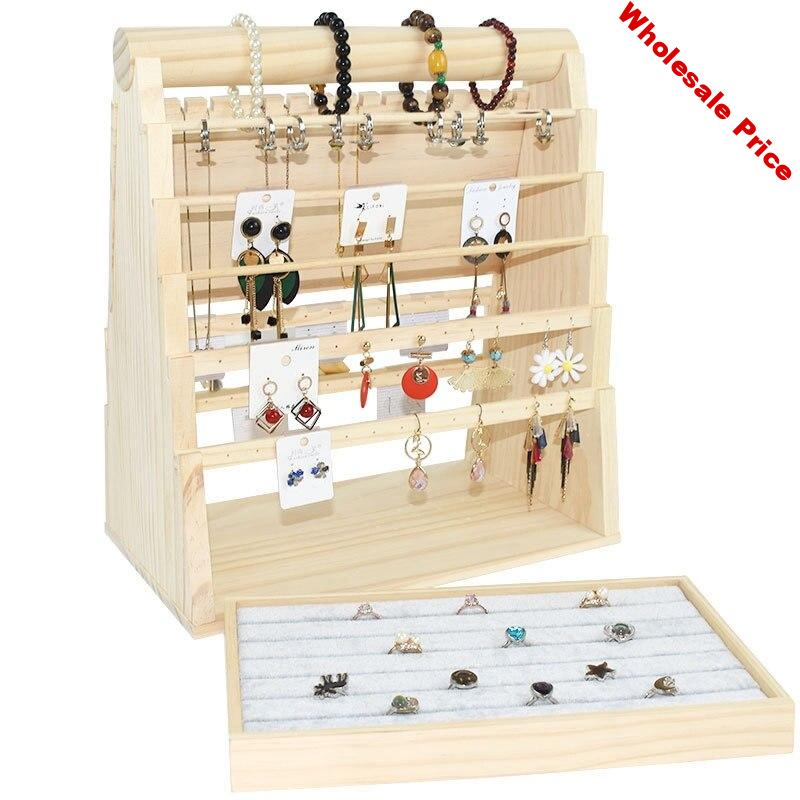 Jewelry Display Props Necklace Jewelry Wood Show Support Ring Bracelet Pendant Jade Show Support Display Display Tray