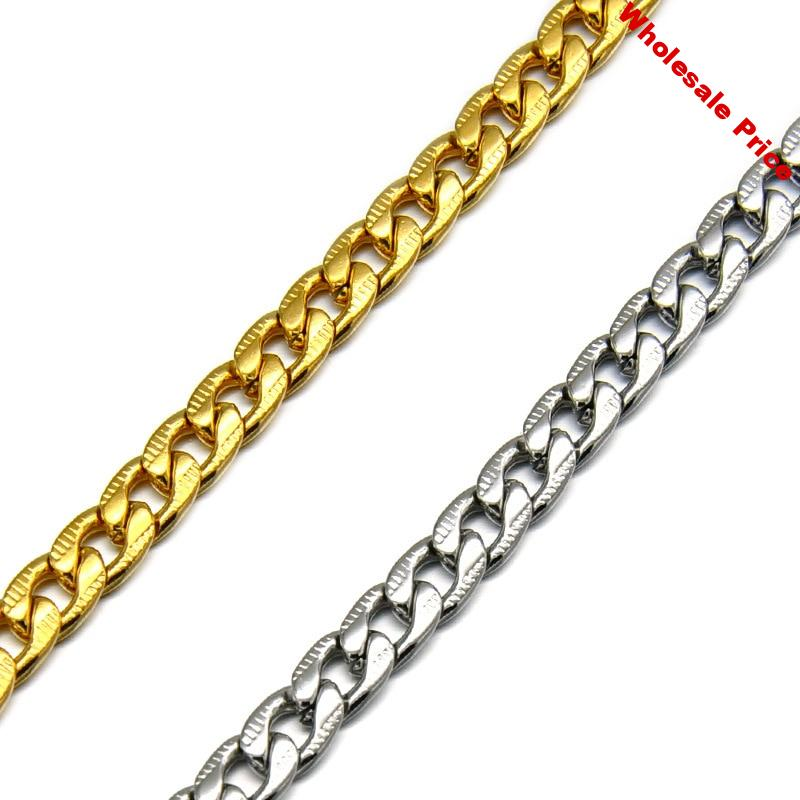 """WT-BFN002 High Quality 24"""" Inch Stainless Steel Chain NK Chain Figaro Chain Cuban Chain Necklace Chain Fashion Necklace Jewerly"""