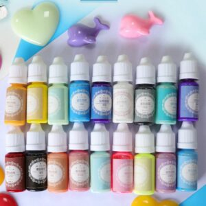 18 Pcs/set DIY Crystal Epoxy Pigment for Resin Craft Festive Jewelry Tools Handmade Macaron Color Oily Colorant