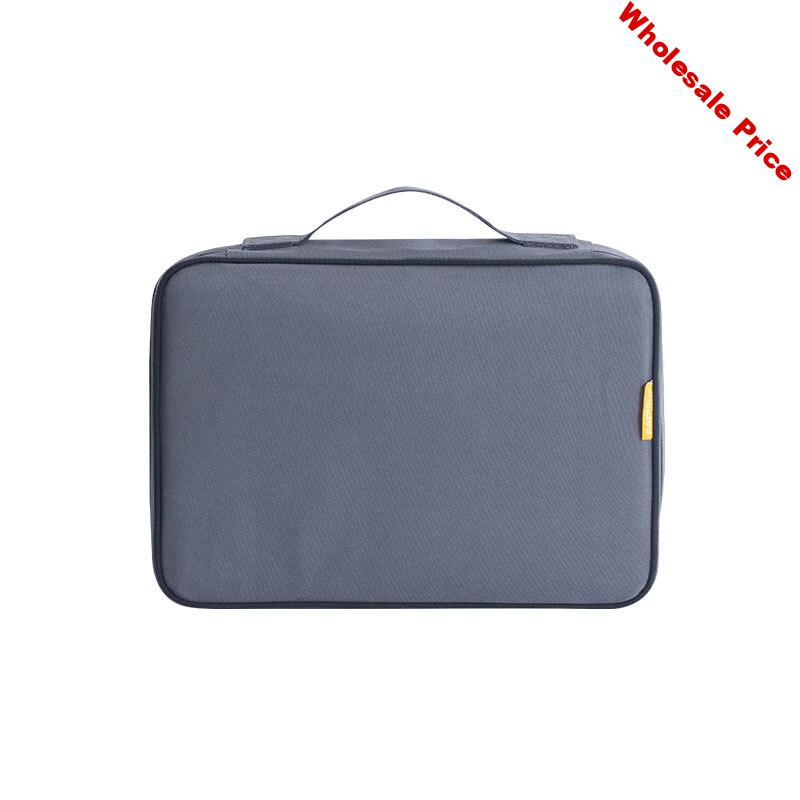Travel Briefcase Bag for A4 Document Large Certificates Files Organizer Multi Layers Home Business Important File Storage Bag