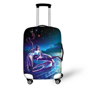 12 constellation design luggage cover suitable 18-30inch suitcase Aries prints luggage protective covers Travel accessories