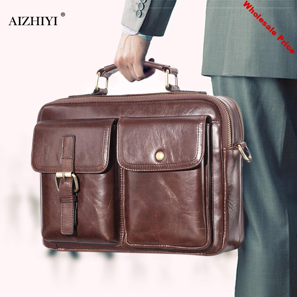 Men Briefcase Mens Genuine Leather Handbags Crossbody Bags Male High Quality Luxury Business Messenger Bags