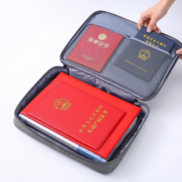 Document File Bag Travel Certificate Electronic Storage Package Business Notebook Multi-functional Handheld Protective products