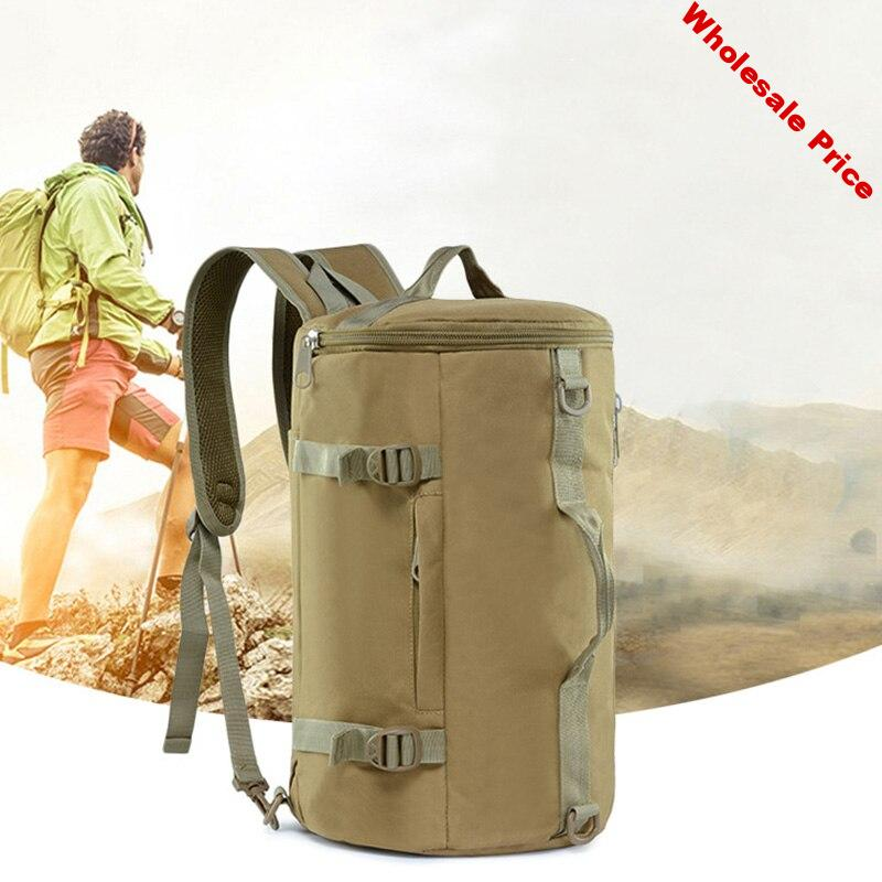 ABDB-20L Outdoor Cylinder Backpack Outdoor Sports Camouflage Backpack Camping bag Drum Bag Cylindrical Backpack Storage Ba