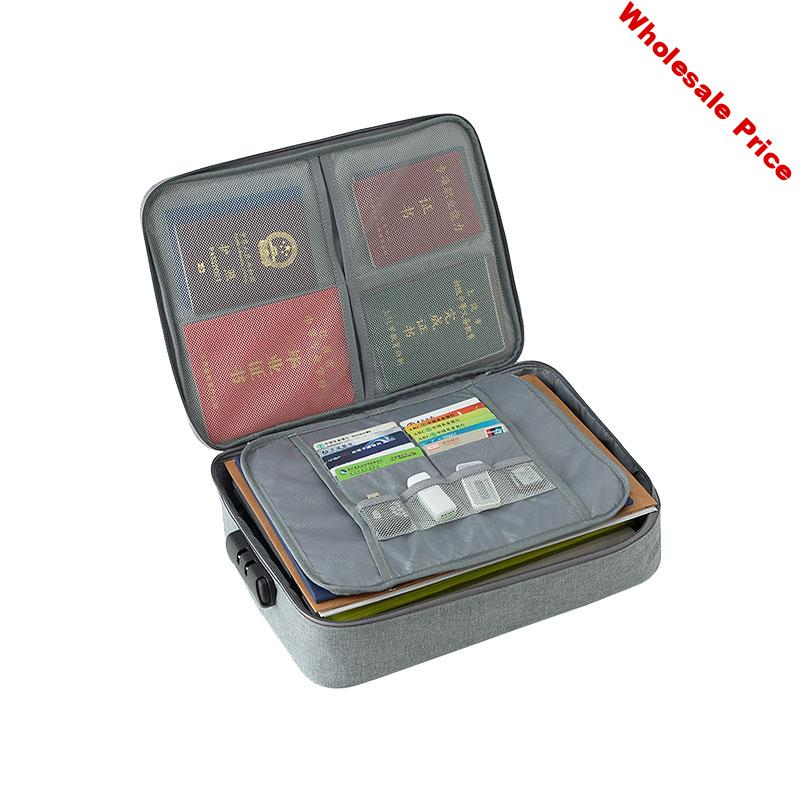 Password Office Bag Multi Purpose Briefcases Polyester A4 Documents Pouch Waterproof Business Travel Tote Bag