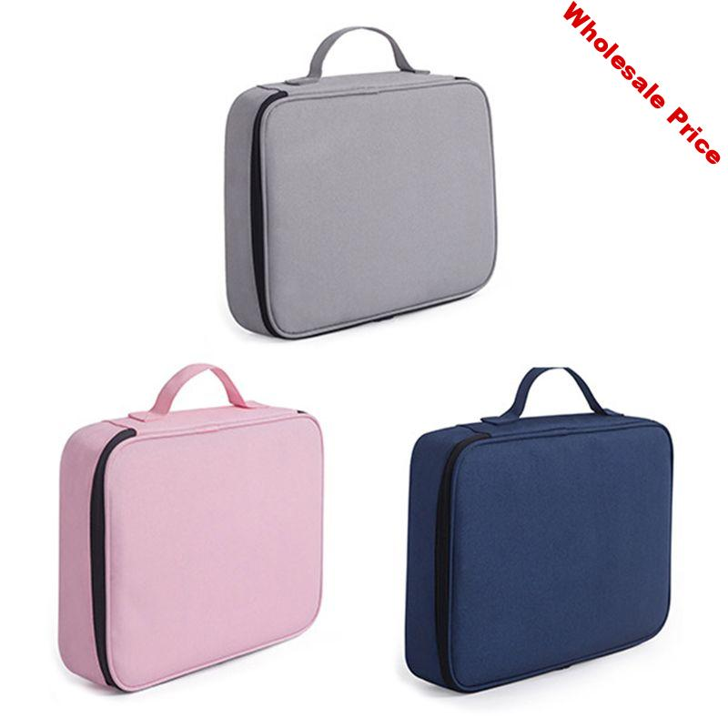 Multi-functional Document Bags Filing Pouch Portable Waterproof Oxford Cloth Organized Tote For Notebooks Pens Computer Stuff