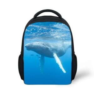 light school bag cool whale humpback design backpack girls boys book bag kids daypack Durable light weight backpack Eco-friendly