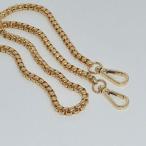 High-end luggage hardware accessories metal chain female bag metal shoulder strap 4 mm box chain decorative chain spot