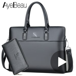 Black Work Hand Business Office Male Messenger Bag Men Briefcase For Document Laptop Computer Handbag A4 Partfel Portfolio 2020