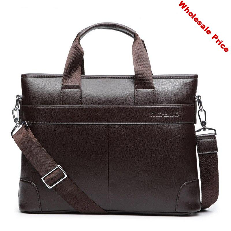 New Briefcase handbag Men bag Pu Leather High capacity Business Bag Casual Tote Bags Retro Travel Computer Laptop Simple Dot