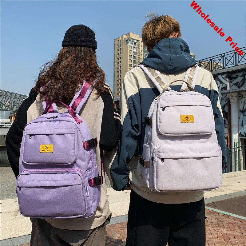 LENLEI 2020 NEW Tooling couple student bag Japan and South Korea simple labeling junior high school student backpack
