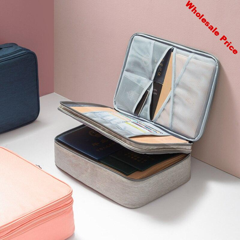 Waterproof Handheld Double Layer briefcase Bags Business Document  Notebook Protective Pouch Case Document Storage Accessories