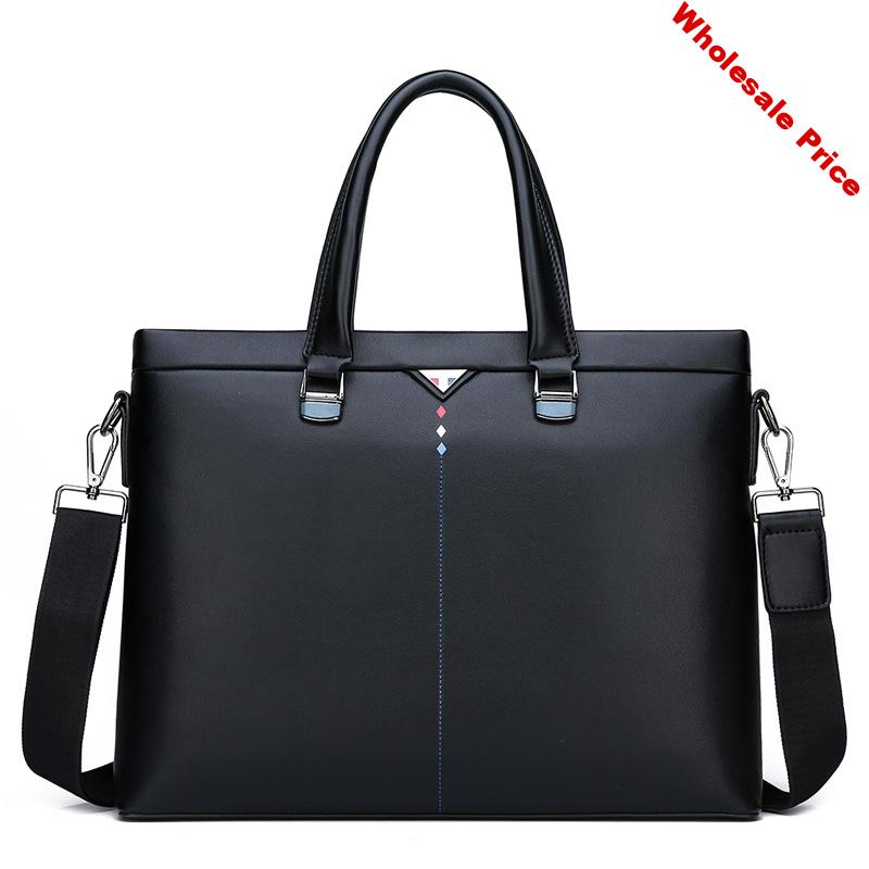 High Quliaty Messenger Bag Men Shoulder Bag Leather Casual Male 14 Inches Business Briefcases Laptop
