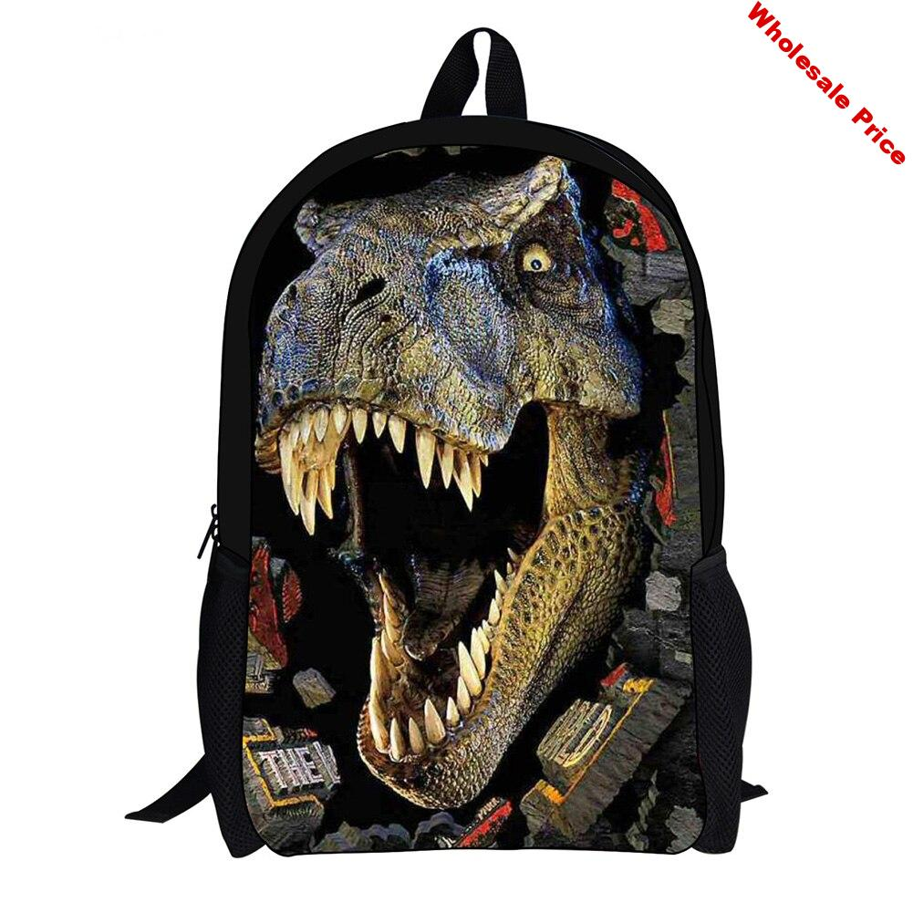Zippered Children With Shoulder Strap Wear Resistant Stationery Travel Casual Outdoor Books Dinosaur School Bag