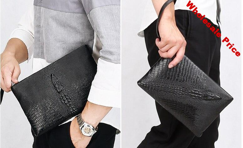 Eagle Embossing Men Cowhide Small Briefcase Genuine Leather Envelope Bag Mens Practical Business Bags Bolso Hombre DF277