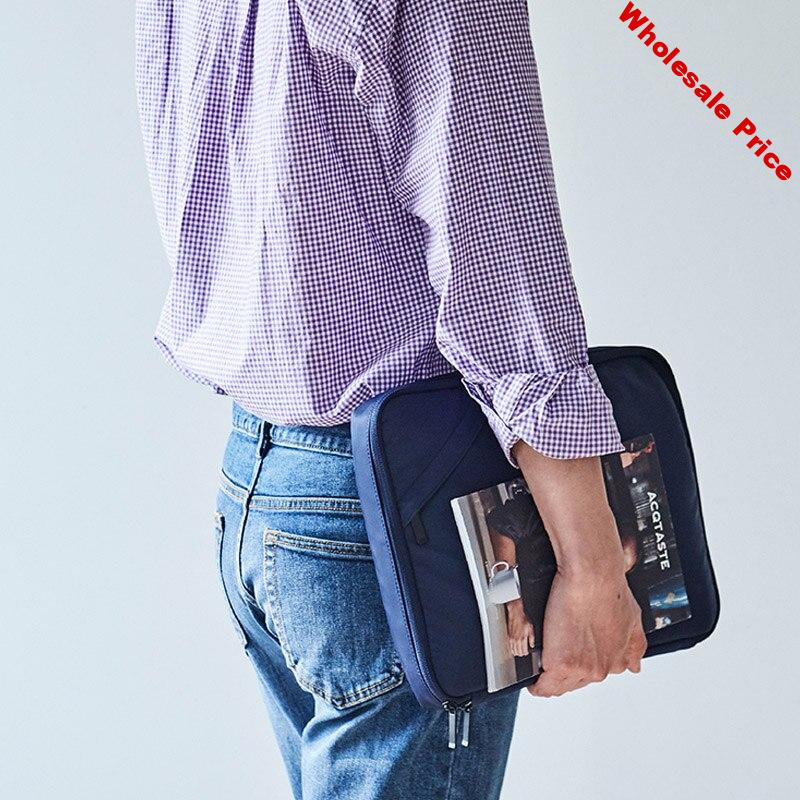 Men's Handheld Document Bag Briefcases 13 Inch Ipad  Electronic Data line Organizer Pouch Office Case Women's Travel Accessories