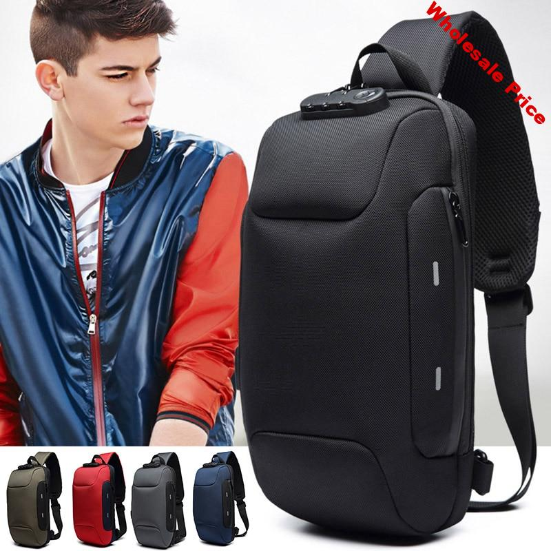 Anti-theft Backpack With 3-Digit Lock Shoulder Bag Waterproof for Mobile Phone Travel FS99