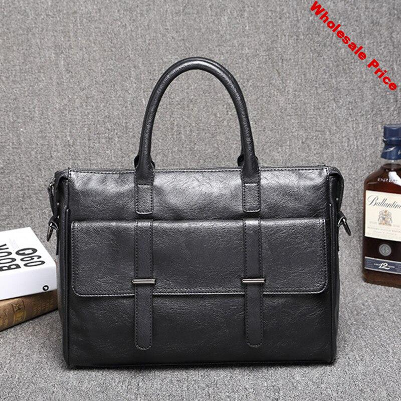 Top Quality Men Briefcase PU Leather Men Bags Business Brand Male Briefcases Handbags bolso hombre WBS809