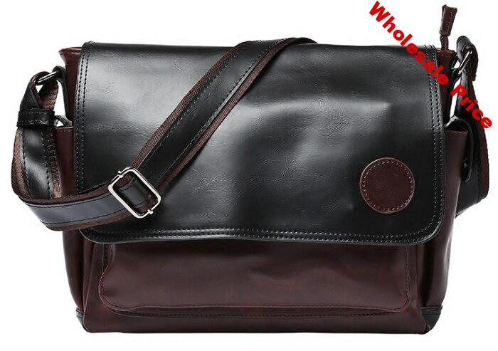 Trendy Mixed Colors Men Briefcase Leather Personality Business Bag Mens Exquisite Formal Business Bags Bolso Hombre DF327