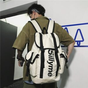 Men Backpack Street Style Laptop Waterproof Backpack Women Fashion Oxford Travel Bag Casual School Bags Black Computer bag