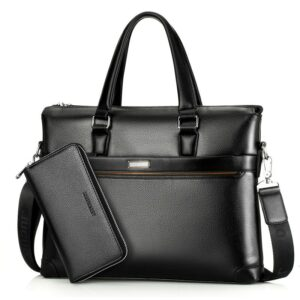 Top Quality Men Briefcase Bag Leather Handbag Men Business Laptop Bags 13 Inches Briefcases Bags Purses WBS503-2