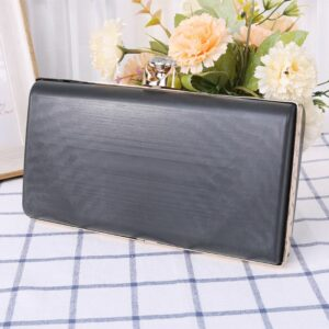 Fashion Women Purse Frame With Black Plastic Box Handbag DIY Evening Bag Wedding Party Prom Metal Clutch