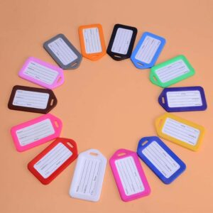 100PC Accept Custom Order Plastic PP Luggage Tag Luggage Checked Card Brand Airline Boarding Pass 10 color Can Printed Your LOGO