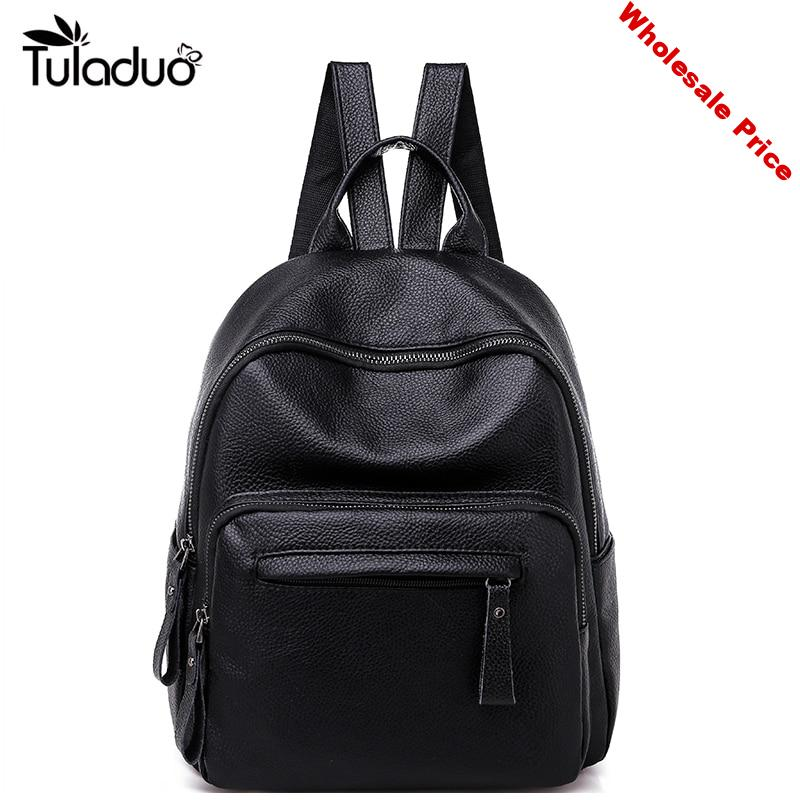 New Women Genuine Leather Backpack Fashion Causal Bags High Quality Cowskin Female Shoulder Bag Backpacks For Girls High Quality