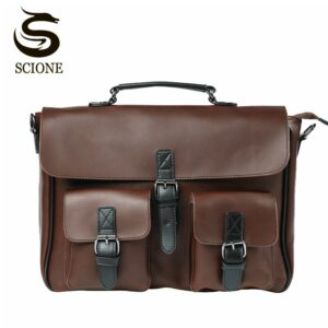 Business Men Bag Double Belt Brand OL Man Leather Briefcase Bag Lawyer Document Bag Male Messenger Totes maletines para hombres