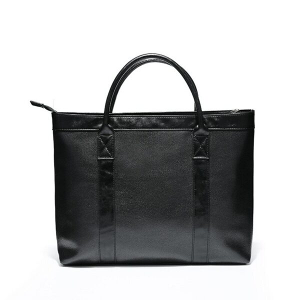 2019 New Business office Briefcase Men PU Leather Handbag male Casual computer laptop Tote man Solid Travel work bag Large