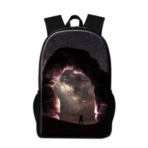Dispalang Galaxy Star Print Backpacks Student School Bag For Teenager Children Rucksack Travel Shoulder Bag Bolsa Mochila Escola