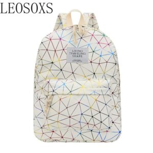 2020 new style laser Lingge backpack female fashion leisure Korean versatile backpack female student schoolbag
