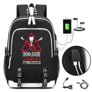 Thunderdome Wizard Hero Har Backpack USB Bag Casual Backpack Teenagers Student School Bag Travel Shoulder Laptop Bag
