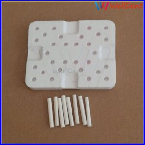 Dental Lab Firing Tray Plate Square Shape Denture Multistation Multi Stage Honeycomb Dental Materials + Ceramic Pins